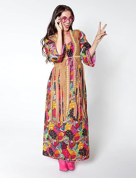 Damen Hippie Kleid Lang 36 Amazonde Spielzeug