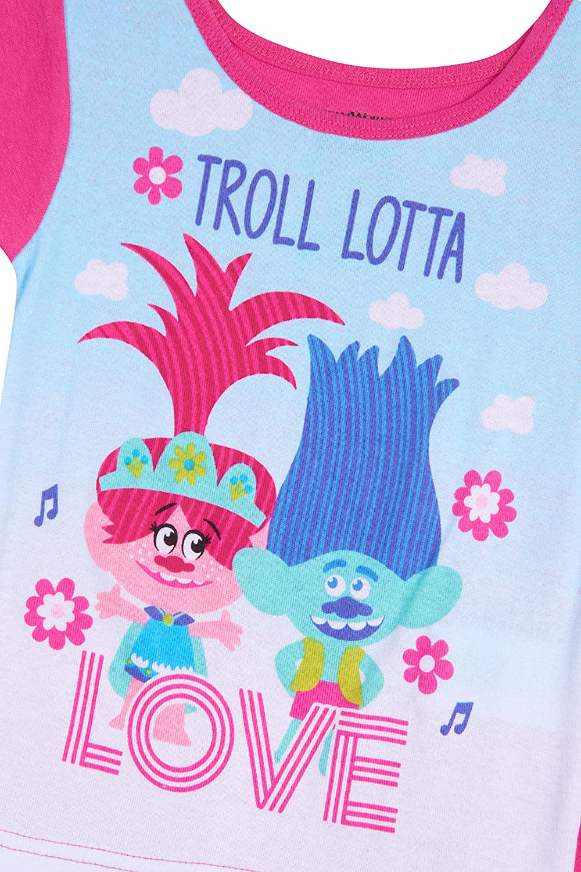 DreamWorks Girls Trolls 4-Piece Cotton Pajama Set