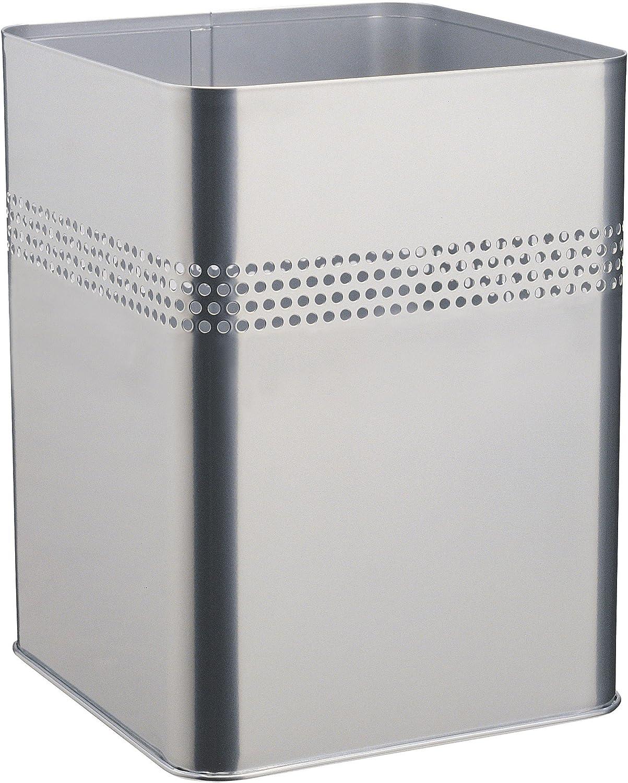 Bordo Decorativo Traforato 240x320x240 mm Cestino Quadrato in Acciaio Verniciato 18.5//P 30 18.5 Litri Durable 332001 Nero