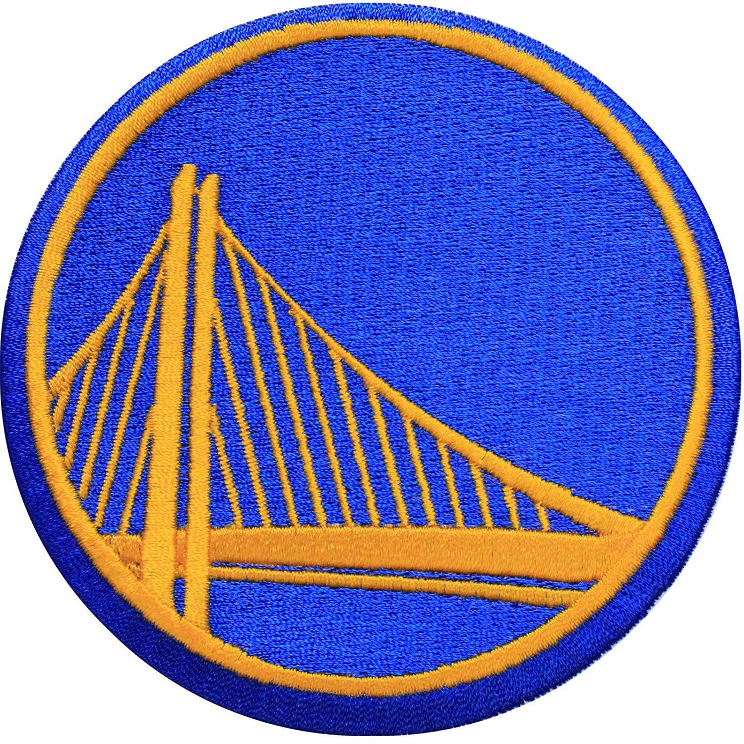 photo regarding Golden State Warriors Printable Schedule titled Formal Golden Nation Warriors Symbol Massive Sticker Iron Upon NBA Basketball Patch Symbol (ALT)