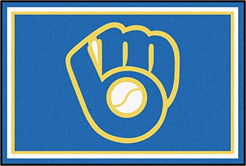 FANMATS 16844 Team Color 59.5 x88 MLB – Milwaukee Brewers Glove Rug