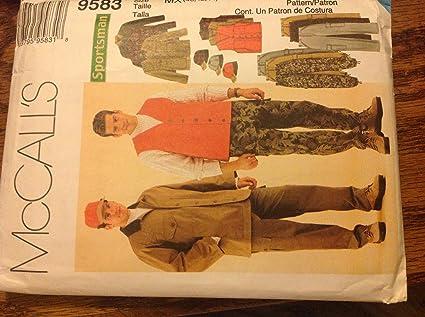 Amazon.com: Mccalls 9583 Sewing Pattern for Men\'s 40-42-44 Sportsman ...