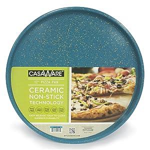 casaWare Pizza/baking Pan 12-inch (Blue - Granite)