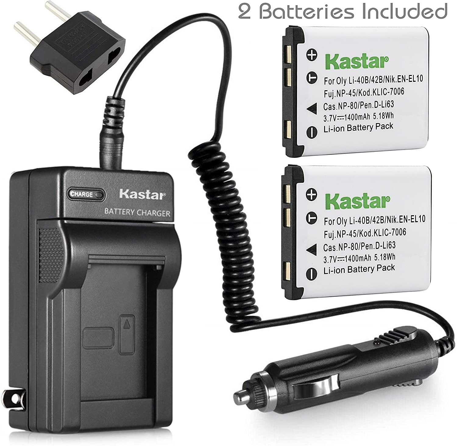 Quality Battery charger Li42B /& USB cable Olympus FE 150 160 190 220 230 330 340