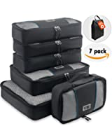 Travel Packing Cubes – Set of 6 Travel Packing Organizers Luggage Packing Cubes