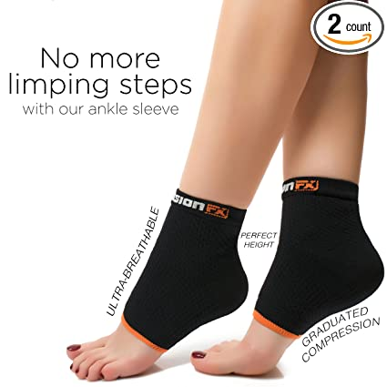 3bf2ccb04f Plantar Fasciitis Compression Sleeve Socks - Ankle Brace for Foot Pain -  Swelling - Ankle Spur - Blood Circulation - Muscle Endurance - Heel Arch  Support ...