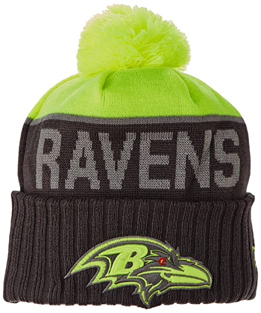 21bb082e5a533c Amazon.com : NFL Baltimore Ravens 2015 Upright Sport Knit, Upright  Yellow/Graphite, One Size : Clothing
