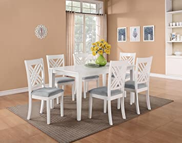 Standard Furniture 18282 Brooklyn Dining Room Set With A Table And Six Chairs In White