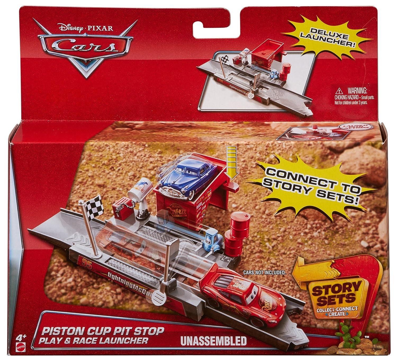 Mattel disney pixar cars 3 piston cup racers cars 1 to cars 3 visual - Amazon Com Disney Pixar Cars Story Sets Piston Cup Pit Stop Play Race Launcher Toys Games