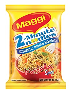 Maggi Masala 2-Minute Noodles India Snack - 24 Pack