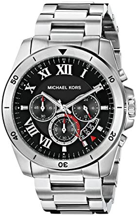be20868ccdf8 Image Unavailable. Image not available for. Color  Michael Kors Men s  Brecken Silver-Tone Watch MK8438