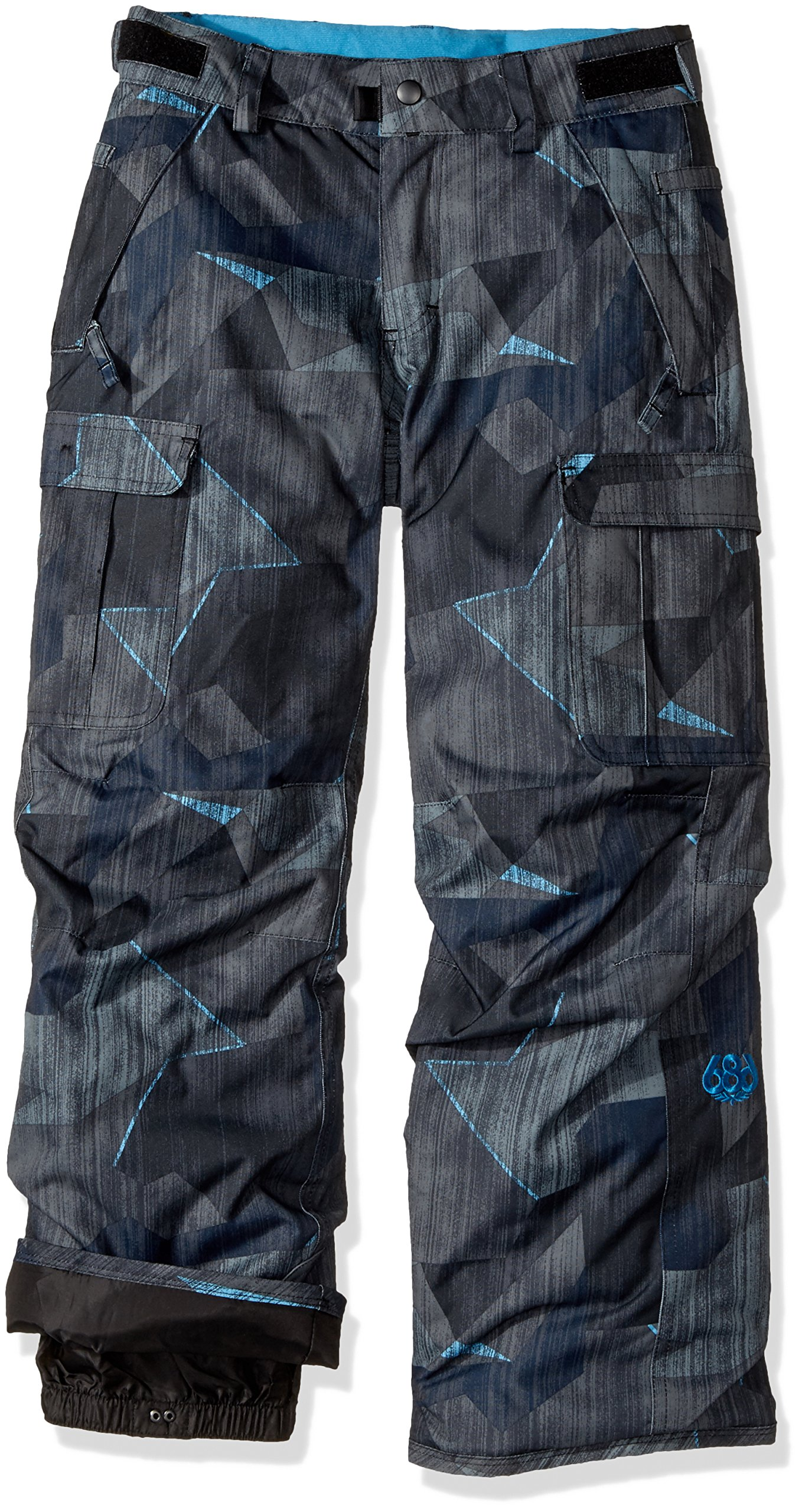 686 Boy's All Terrain Insl pnt, Charcoal Metric Camo Print, Medium