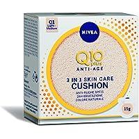 Nivea Q10 Plus Anti-Age 3 in 1 Skin Care Cushion Chiaro, Colore Naturale 01 Light-Medium