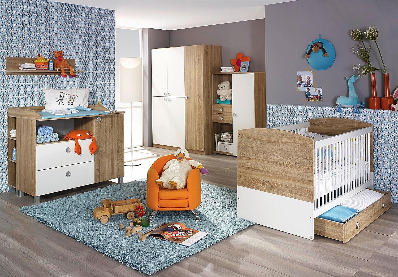 Babyzimmer Nils Kinderbett Kleiderschrank Wickelkommode