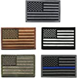 5 pieces Tactical USA Flag Patch - American Flag US United States of America Military Patches (5Packs)