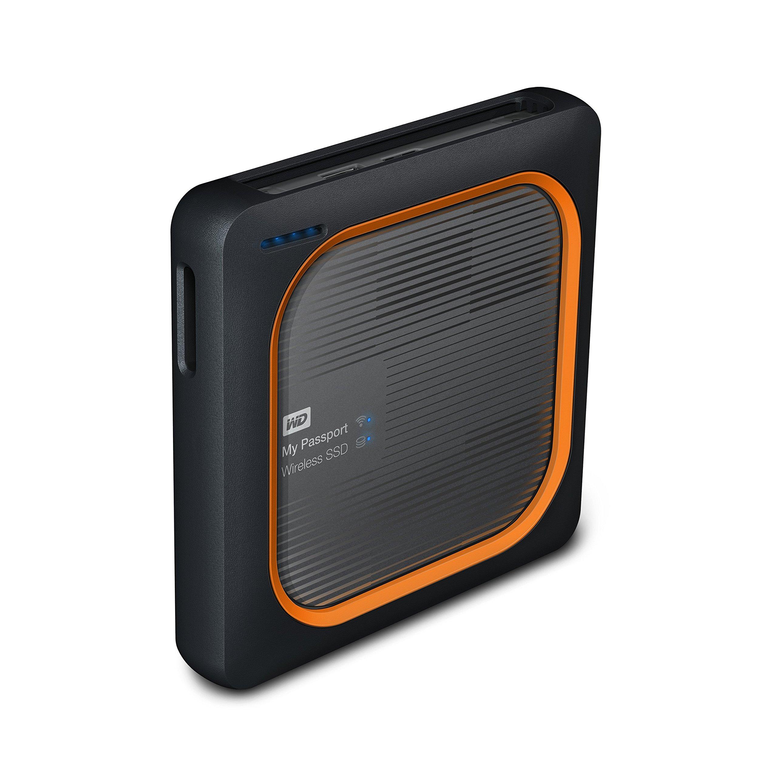 WD 250GB My Passport Wireless SSD External Portable Drive - WiFi USB 3.0 -WDBAMJ2500AGY-NESN by Western Digital (Image #2)
