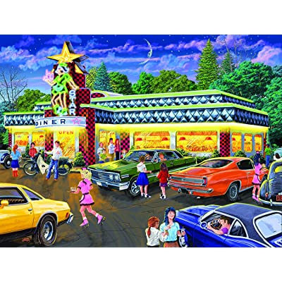 Star Diner 500 pc Jigsaw Puzzle by SunsOut: Toys & Games