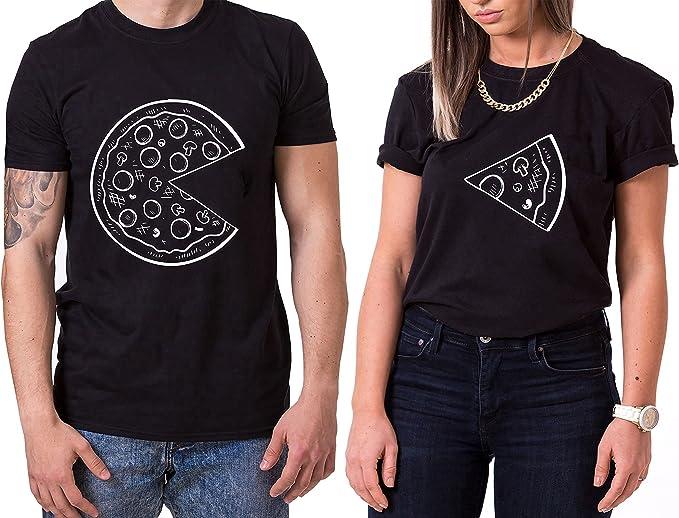 Pizza King Queen Partner Look P/ärchen Valentinstag T-Shirt