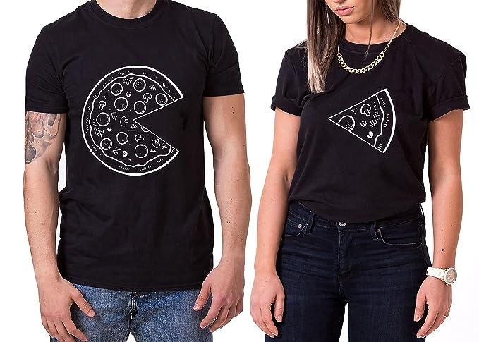 WhyKiki Pizza King Queen Partnerlook Camiseta de Los Pares Dulce para  Parejas como Regalos  Amazon.es  Ropa y accesorios 14aa7c5d5fa73
