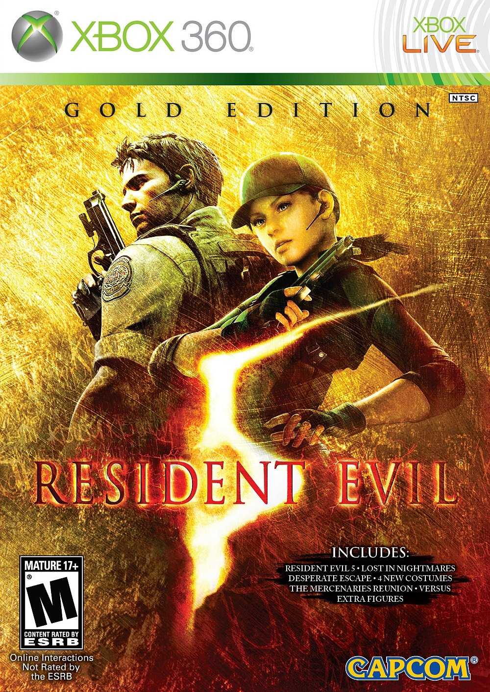 Amazon Com Resident Evil 5 Gold Edition Xbox 360 Capcom U S A Inc Video Games