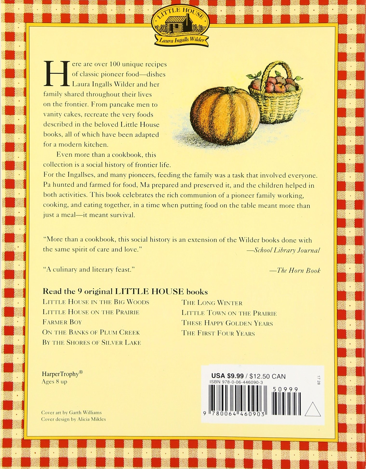 the little house cookbook frontier foods from laura ingalls