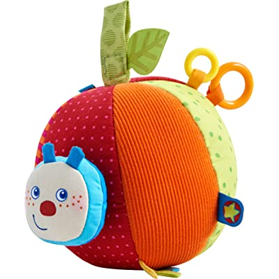 Haba Fabric Ball Caterpillar Mina, Baby Ball, 303219, Multicolour : Baby
