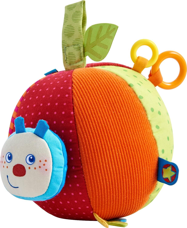 HABA 303219 - Stoffball Raupe Mina | Baby-Spielzeug aus Stoff mit Rattermotor und vielen Spieleffekten | Ab 6 Monaten Habermaass GmbH