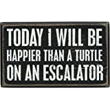 Primitives by Kathy Box Sign, 3-Inch by 5-Inch, A Turtle