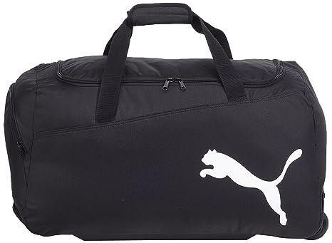 0718948126e92 PUMA Sporttasche Pro Training Medium Wheel Bag black-White 63 x 34 x 13 cm