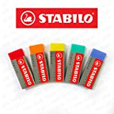 Stabilo Legend Plastic Eraser - Pack of 5 - One of Each Colour
