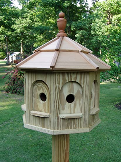 Large Outdoor Bird Houses.Wood Birdhouse Amish Homemade Handmade Handcrafted Large