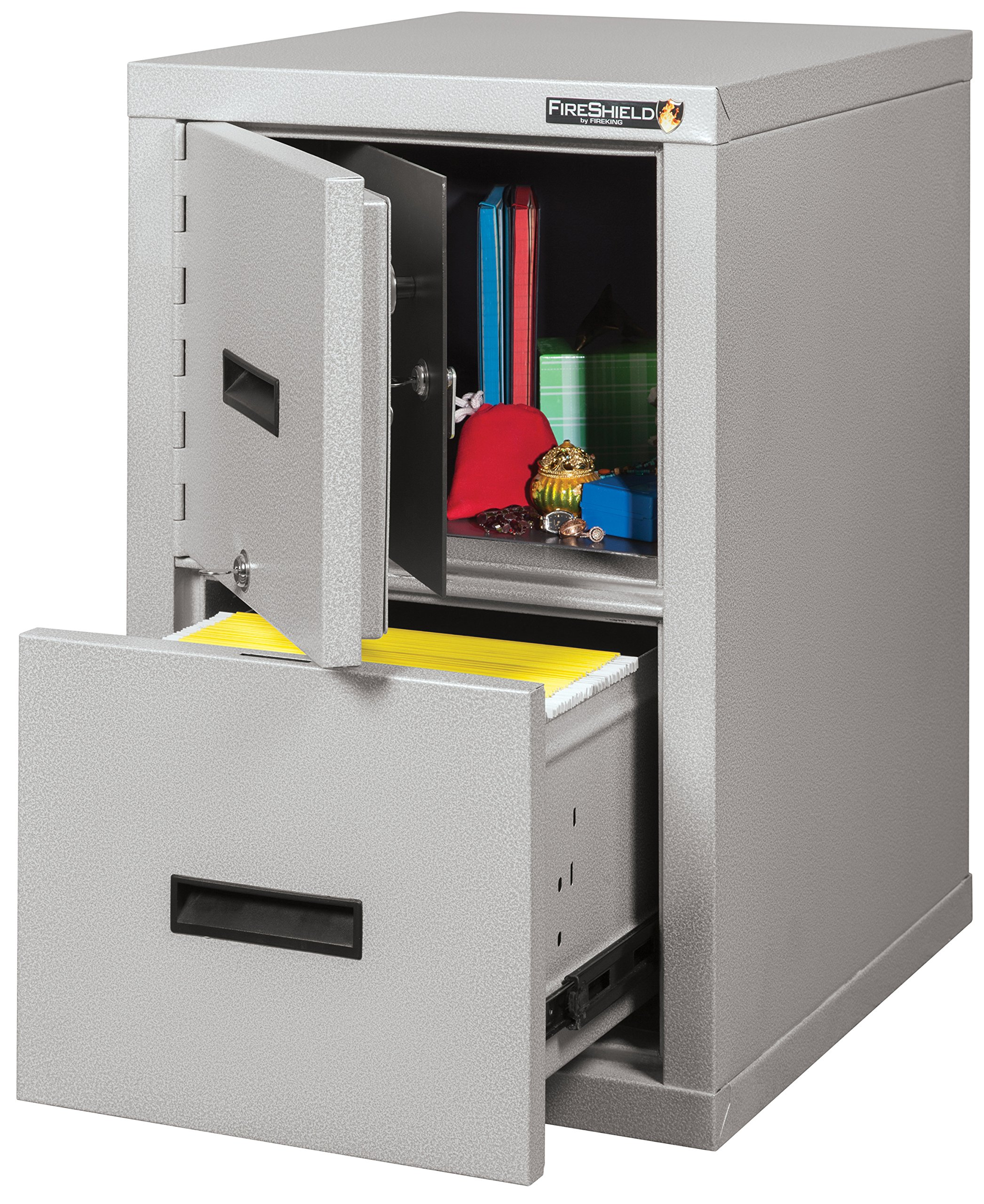 Fire Resistant File Cabinet - Light weight, fire rated, One file drawer & safe by FireKing