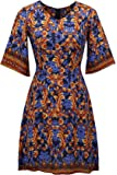 FUWA Women's Half Sleeve Summer Bohomain Midi Dress Boho Casual Dresses
