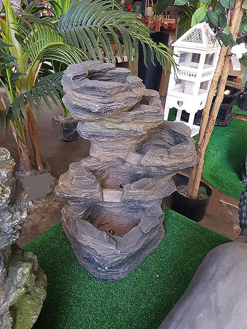 Qaromas Feature Water, Rocks - Fuente Exterior Resina: Amazon.es: Jardín