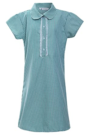 8022251e5 Girls School Dress Ex Marks and Spencer 100% Cotton Gingham Blue Red Yellow  Size UK 3 4 5 6 7 8 9 10 11 12 Years: Amazon.co.uk: Clothing