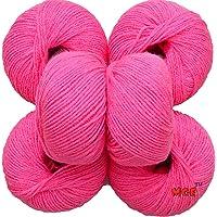 M.G 100% Acrylic Wool Melon Baby Soft Wool Ball Hand Knitting Wool/Art Craft Soft Fingering Crochet Hook Yarn, Needle Knitting Yarn Thread Dyed