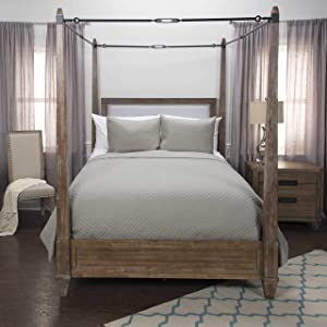 Rizzy Home Breeze on Clouds Quilted Bedding, Queen, Taupe