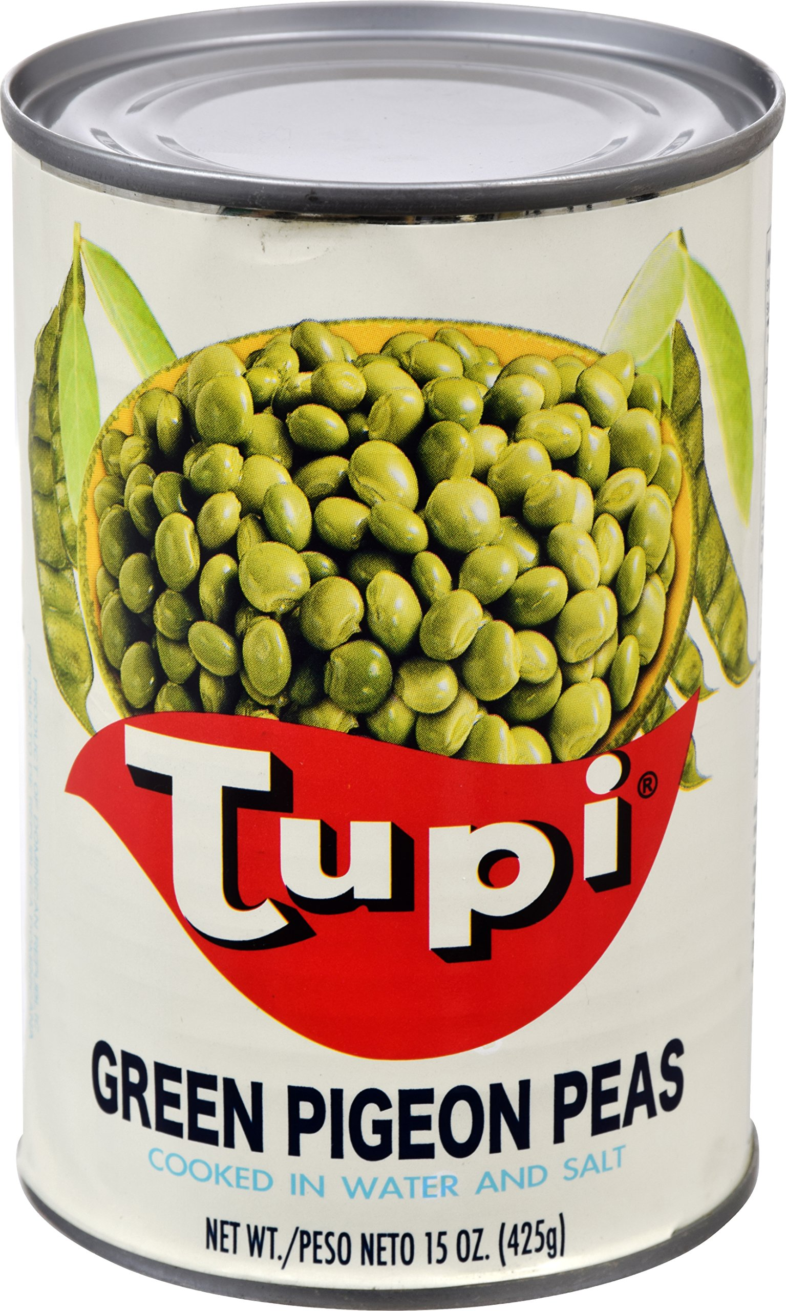 Goya Foods Tupi Green Pigeon Peas, 15 Ounce (Pack of 24)