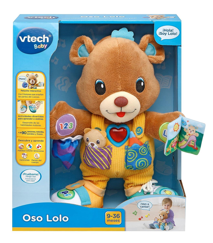 VTech - Oso Lolo, Peluche Interactivo, Color Azul (3480-190922): Amazon.es: Juguetes y juegos