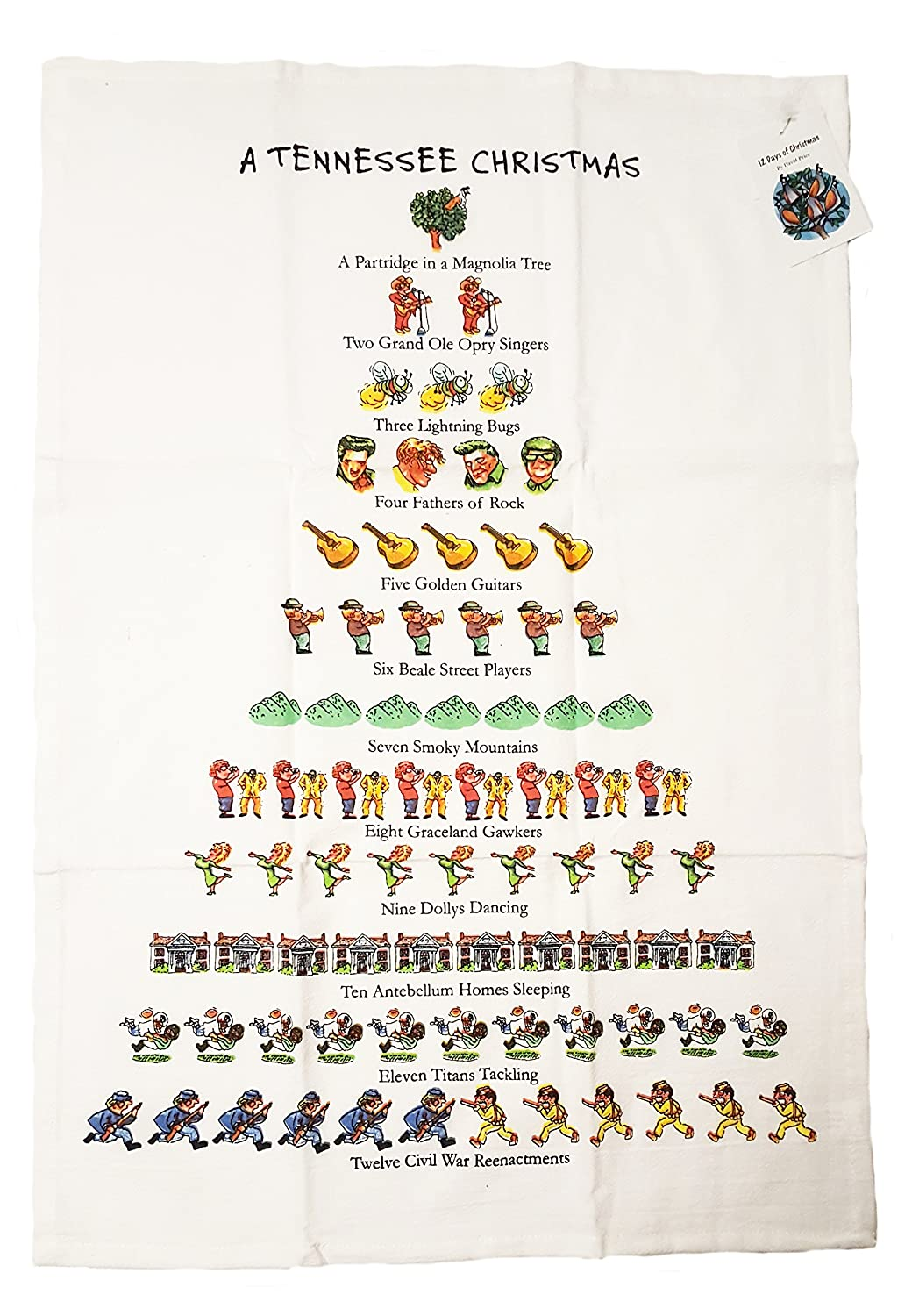 amazoncom a tennessee christmas dish towel home kitchen - Tennessee Christmas