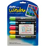 EXPO 1752226 Neon Dry Erase Markers