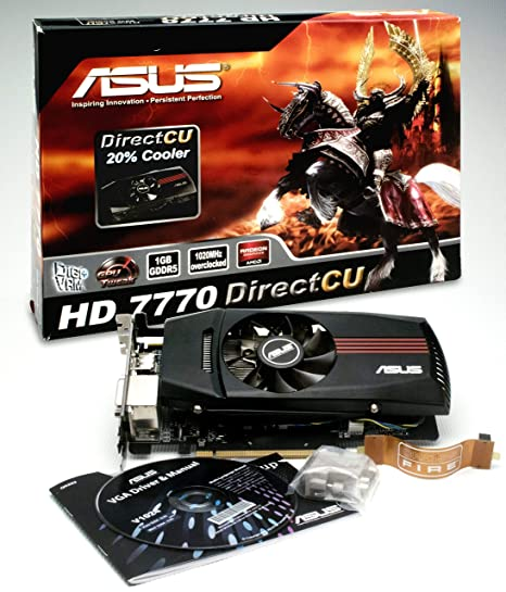 ASUS HD7770-DC-1GD5-V2 AMD Radeon HD 7770 VGA 1 GB GDDR5 Graphics Card