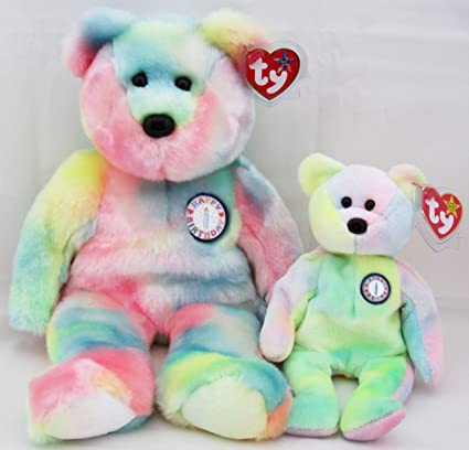 Amazon.com  Ty Beanie Buddy   Baby Bear Set - B.B. Bear Teddy  Toys ... b27e919cdbf