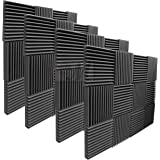 "Mybecca 2"" X 12"" X 12"" Acoustic Panels Studio Foam Wedges, 48 Pack"