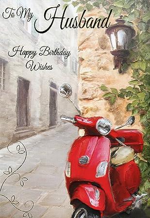 A mi marido feliz cumpleaños deseos - Patinete en relieve ...
