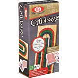 Ideal Folding Wood Cribbage Board with Cards