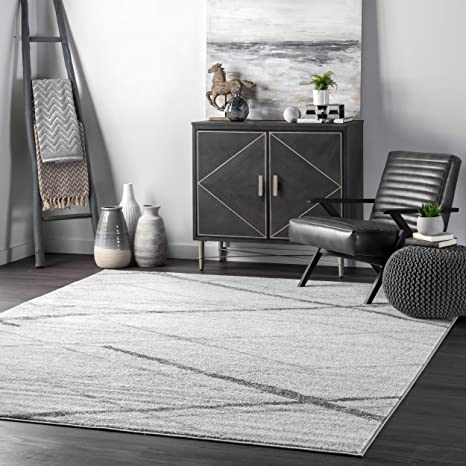 Nuloom Thigpen Contemporary Area Rug 5 X 8 Grey Home Kitchen