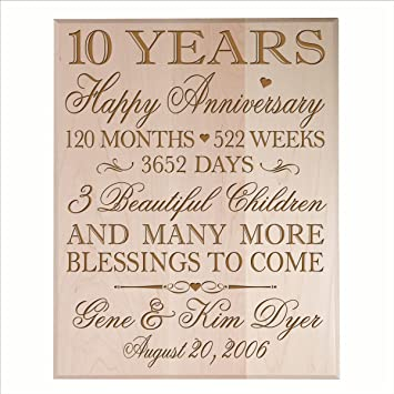 Amazon Personalized 10 Year Anniversary Gifts Ideas For Couple