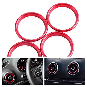 Emblema Trading Emblema chorros de aire anillos ventilación embellecedor para logo A3 S3 RS3: Amazon.es: Coche y moto