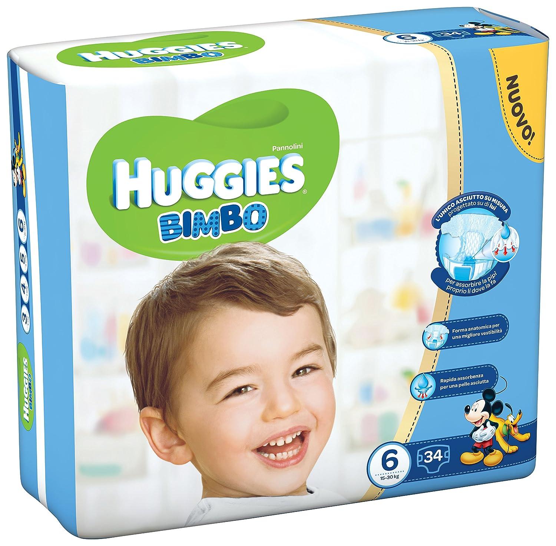 Huggies Bimbo Lot de 34couches pour enfants de 15 à 30kg Taille 6 Kimberly Clark 02566721